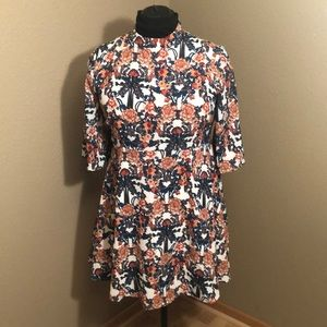 NWOT Aryeh Cream Floral 3/4 Sleeve Dress Size L